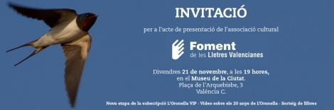 presentació de foment de les lletres valencianes